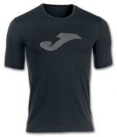 Tricouri sport Joma T- negru-alb cu maneca scurta (jaquard)
