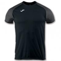 Tricou jogging Record Joma III negru cu maneca scurta