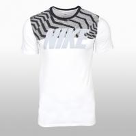 Tricou bumbac Nike M Nsw Tee Rag Swsh Pls Blk Barbati