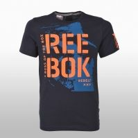 Tricouri bumbac bleumarin Reebok Rebels Kids Basic Tee Baietei