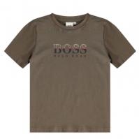 Tricouri sport Tricou cu logo Boss Hugo Boss Grad LG - kaki