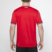 Tricouri tenis Joma Terra rosu-alb cu maneca scurta