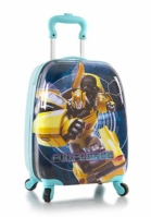 Troler Calatorie Abs Copii Baieti Heys Transformers Albastru Turcoaz 46 Cm