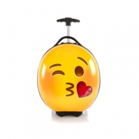 Troler Copii Calatorie Abs Emoji Smiley Face Kiss 41 Cm Heys