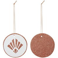 House of Fraser alb And Rose Gold Glitter Deco Gift Tags