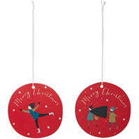 House of Fraser Merry Craciun Gift Tags cu personaje