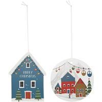 House of Fraser zapada Village Glitter Gift Tags