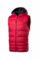 Vesta barbati Hooded Down Vest Red Puma