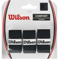 Wilson Pro Comfort Overgrip wrapper negru 3 bucati WRZ4014BK barbati
