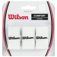 Set 3 Wilson Profile Overgrip alb WRZ4025WH