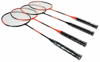 Set Badminton AXER TECHNICAL / 4 rachete + fileu 3 fluturasi A0104 sport Axer sport