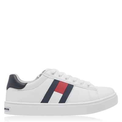 Adidasi Tommy Hilfiger Tommy Hilfiger Low Lace alb albastru x33