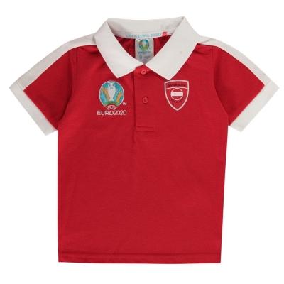 Tricouri polo UEFA Euro 2020 Austria pentru Copii rosu
