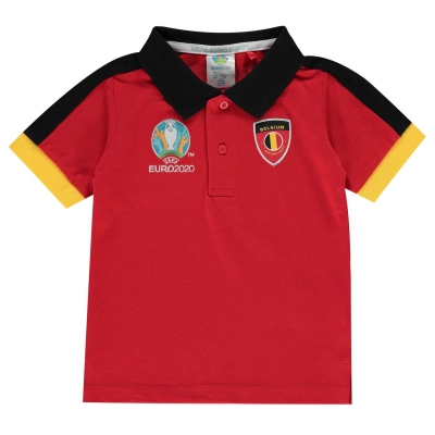 Tricouri Polo UEFA Belgia pentru Bebelusi rosu