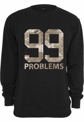 Tricou maneca lunga camuflaj 99 Problems Desert negru Mister Tee
