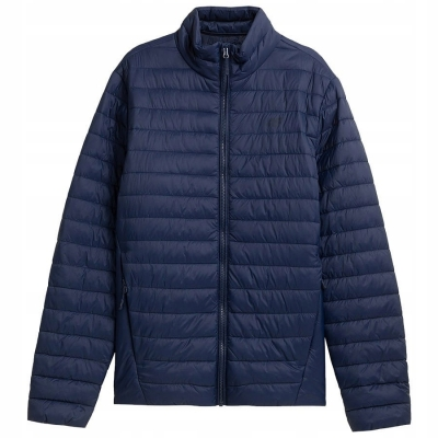 Jacheta bleumarin matlasata din puf 4F barbati