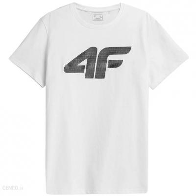 Tricou alb simplu 4F bumbac barbati