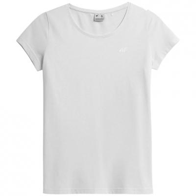 Tricou alb simplu 4F dama