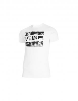 Tricou bumbac cu imprimeu pe piept 4F barbati