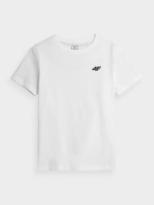 Tricou simplu alb 4F copii