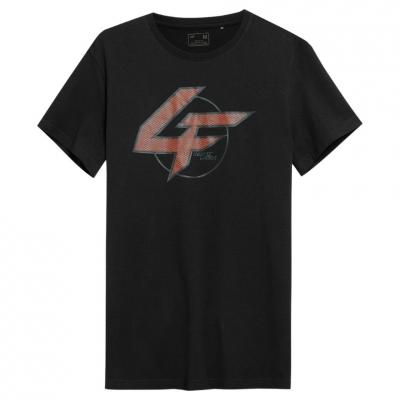 Tricou sport negru 4F cu imprimeu barbati