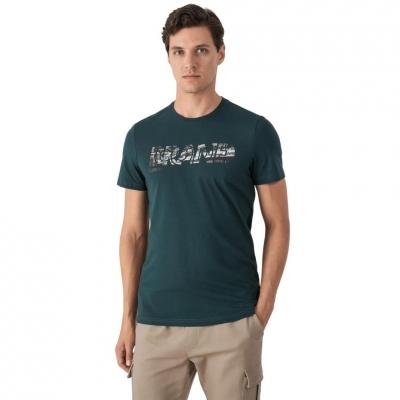 Tricou verde maneca scurta 4F barbati