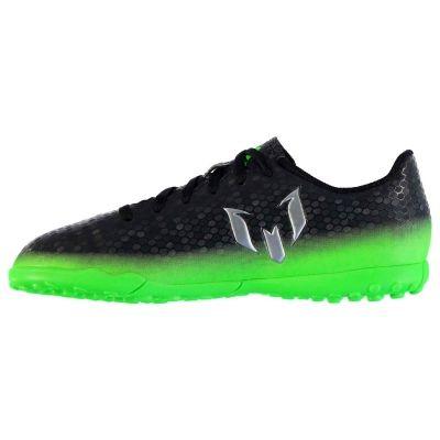 Adidasi Gazon Sintetic adidas Messi 16.4 pentru copii negru verde