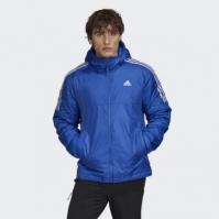 Geaca albastra cu captuseala si gluga adidas Essentials GH4603 barbati