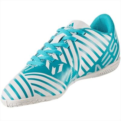 Ghete fotbal indoor adidas Nemeziz Messi 17.4 IN Junior S77208 baieti alb albastru