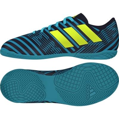Ghete fotbal sala adidas Nemeziz 17.4 IN Junior S82465 baietei albastru alb