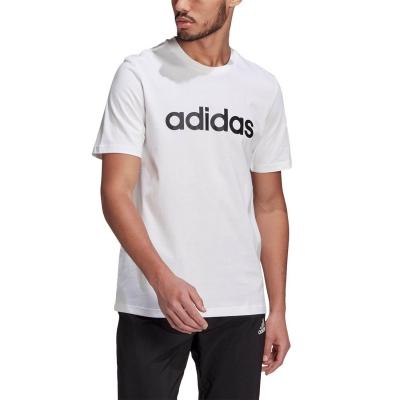 Tricou alb bumbac adiads Linear barbati