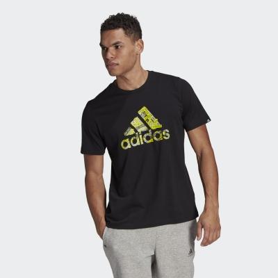 Tricou negru adidas Branded Tape Logo GL3699 barbati