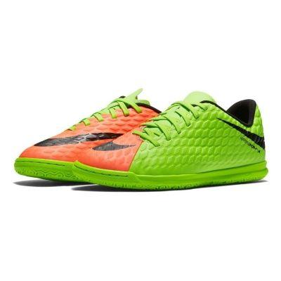 Adidasi fotbal sala Jr. Nike Hypervenomx Phade Iii Ic baietei verde roz