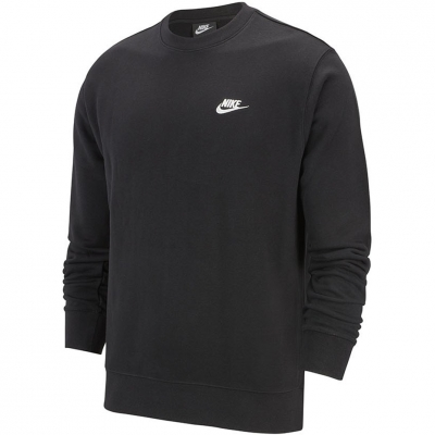 Bluza sport Nike NSW Club Crew FT negru BV2666 010 barbati