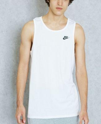 Maiou alb bumbac Nike Futura Vest barbati