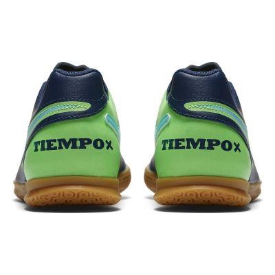 Ghete de fotbal TIEMPOX RIO III IC pentru adulti albastru verde