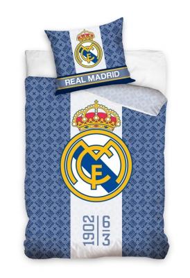 Lenjerie pat bumbac cu echipe fotbal Real Madrid 160x200