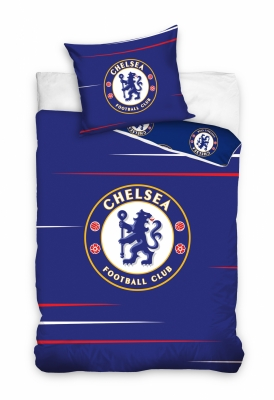 Lenjerii de pat bumbac cu echipe fotbal Chelsea 160 x 200 cm