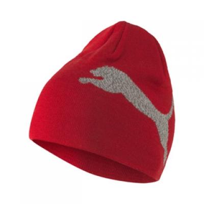 Fes rosu iarna Puma Ess Logo Beanie unisex