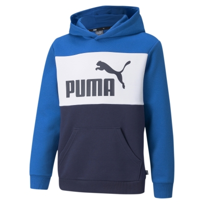 Hanorac gluga Puma Colorblock albastru copii
