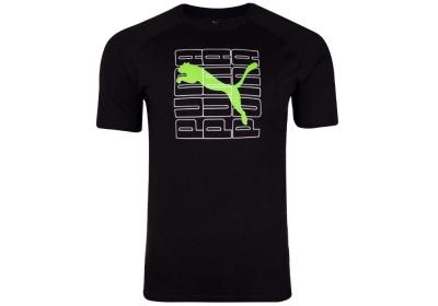 Tricou negru bumbac Puma Dimensional Graphic barbati