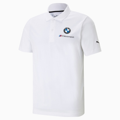 Tricou polo alb Puma BMW M Motorsport Essentials barbati