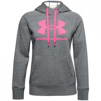 Hanorac gluga Under Armor Rival Logo gri-roz 1356318 012 femei