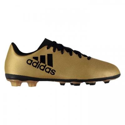 Ghete de fotbal adidas X 17.4 FXG CP9013 baieti bej metalic