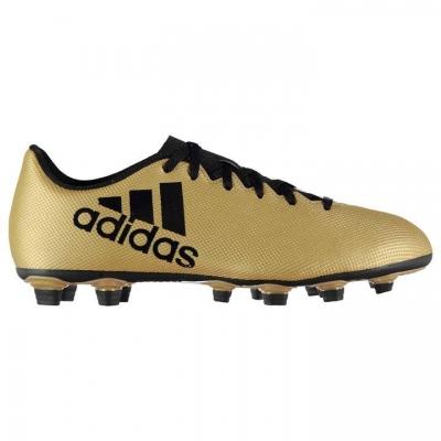 Ghete fotbal adidas X 17.4 Flexible Ground Boots CP9195 barbati bej metalic