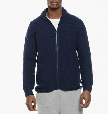 Pulover bleumarin cu fermoar adidas Utility Knit Track Top pentru barbati
