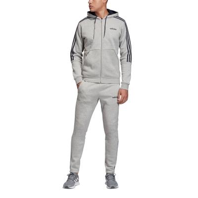 Treninguri adidas cu fermoar 3-Stripes pentru Barbati gri albastru