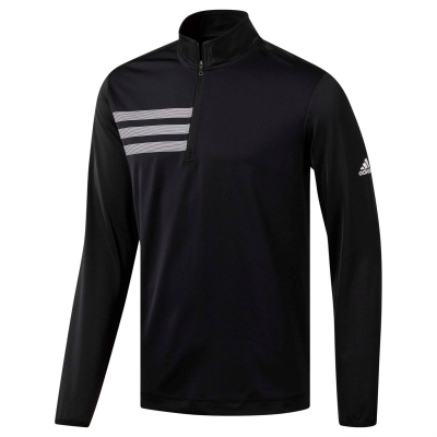 adidas 3 Stripes cu fermoar pentru Barbati negru