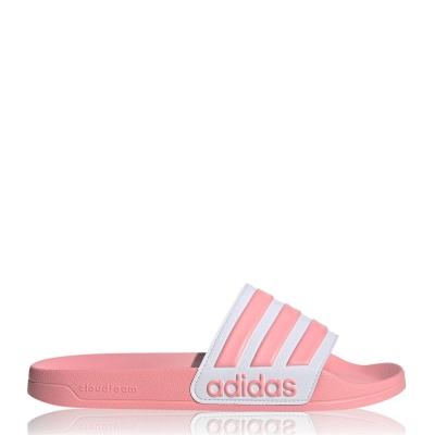 Papuci plaja adidas Adilette pentru femei roz alb