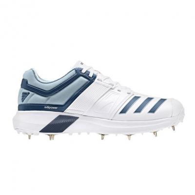 adidas Adipower Vector Cricket Spikes pentru Barbati alb albastru